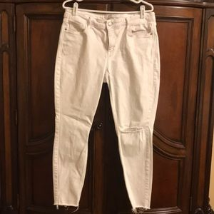 Old Navy White Rockstar Super Skinny Ankle Jeans